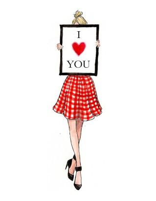ValentinesOneGirlCardRed
