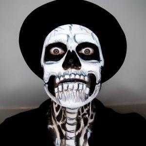 Skull boy makeup