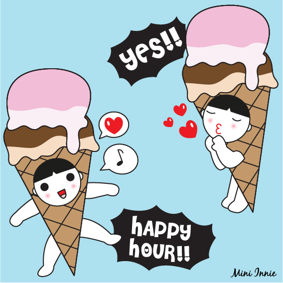 ice-cream-happy-hour-icon-logo-illustration
