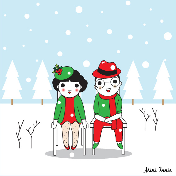 merry-christmas-from-us-card-illustration-ii
