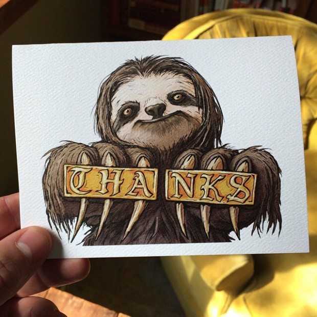 thanks-sloth