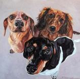 custom-pet-portrait-dachshunds