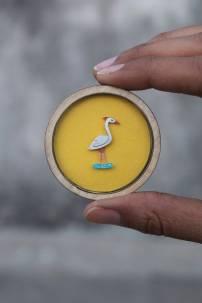 Paper cut jewelry - Crane 2